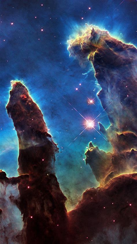 ao space galaxy star  night science nature blue wallpaper