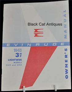 Original Boat Owners Manual Evinrude 3 Hp Lightwin  3302