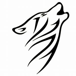Tribal Wolf Head Howl Howling Graphic Sticker Art Car Window Truck Bumper Door Fuel Tank Cap