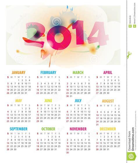 calendar stock illustration image  template month