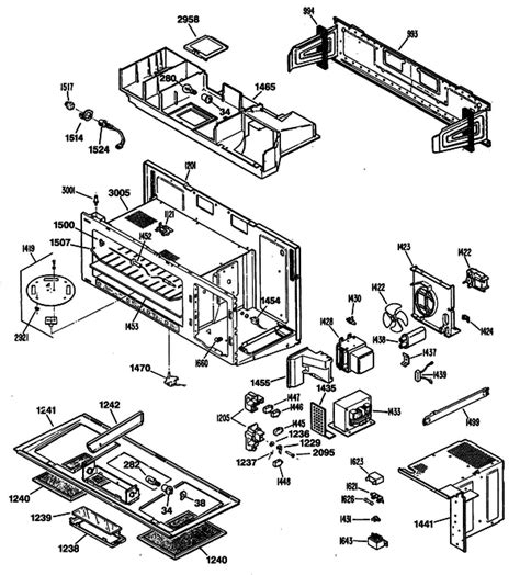 Ge Wiring Schematic Jvm 2 by Ge Jvm139k04 Tabletop Microwave Parts And Accessories At