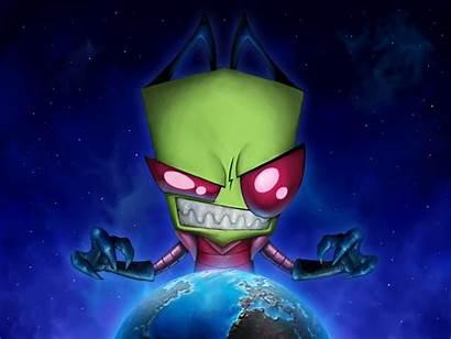 Gambar Kartun Ilustrasi Zim Invader Populer Paling