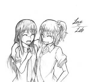Anime Girl Best Friend Drawings