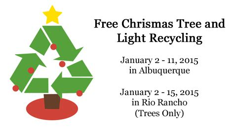 christmas tree and tree light recycling