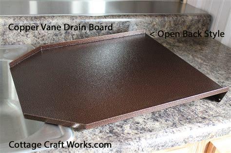 decorator kitchen sink drain board copper black granite