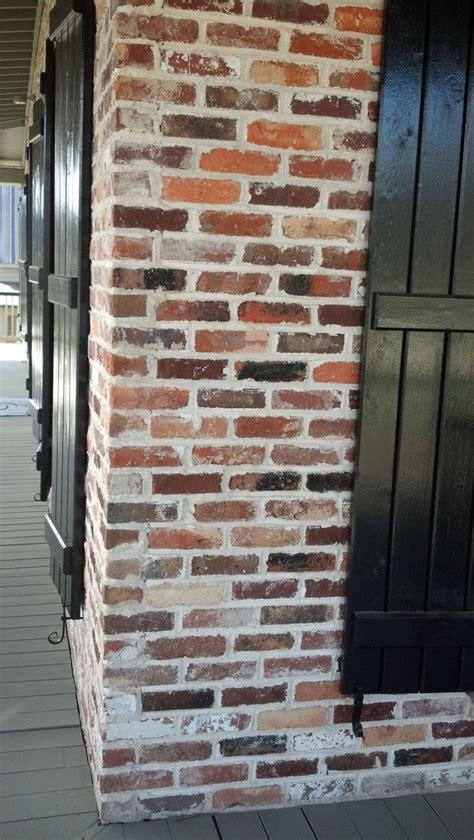 shutters brick house ideas  pinterest white