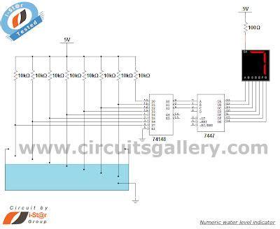 Numeric Water Level Indicator Liquid Sensor Circuit