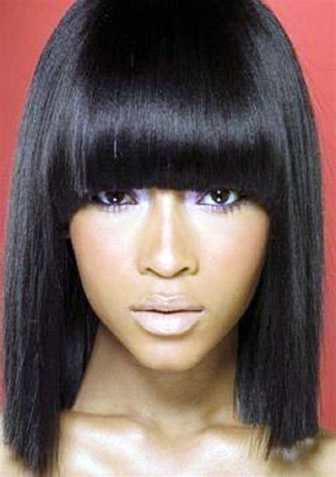 Sew In Weave Bob Hairstyles With Bangs by Weave Hairstyles With Bangs Wavy Hairstyles