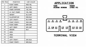 91 Honda Accord Radio Wiring Diagram