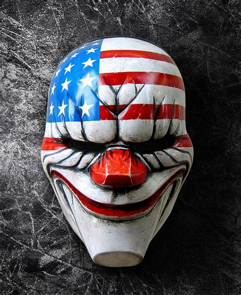 Payday 2 Halloween Masks by Payday The Dallas Clown Mask