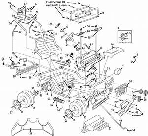 Power Wheels Limited Edition Jeep Wrangler Parts