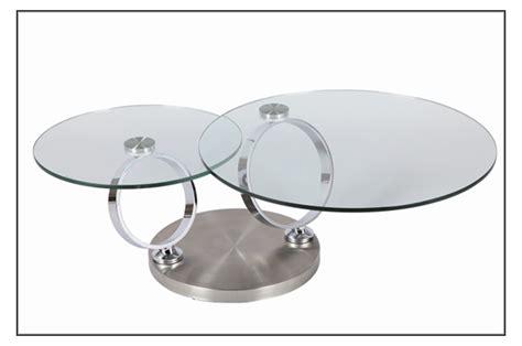 table basse ronde en verre table basse design en verre ronde modulable trendymobilier
