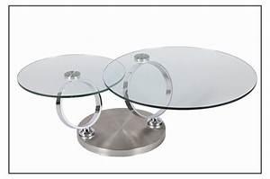 Table Basse En Verre Ronde : table basse design en verre ronde modulable ~ Teatrodelosmanantiales.com Idées de Décoration