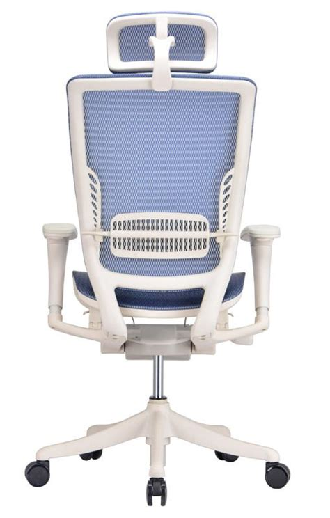 ergonomic adjustable office chair in blue mesh ergo