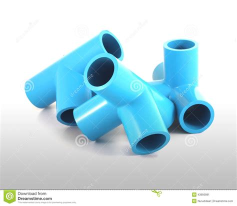 Blue Pvc Pipe Connection Stock Image Image Of Curve