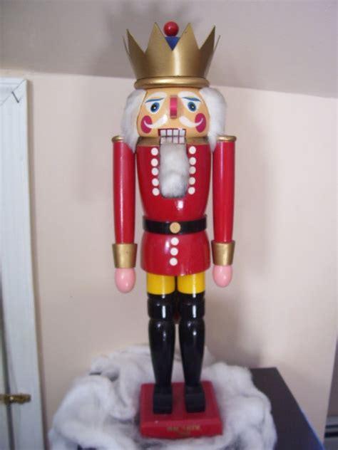 large rare christmas antique wooden nutcracker king