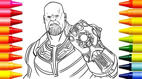 coloring pages avengers thanos coloring videos for kids