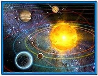 solar system  screensaver code