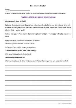 kostenlose daf  mail arbeitsblaetter