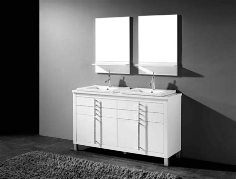 Adornus Turin Inch White Double Sink Bathroom Vanity