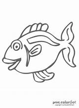 Fish Funny Coloring Pages Printcolorfun sketch template