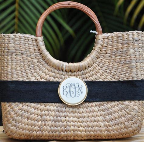 monogram scrimshaw mini basket bag  monogrammed