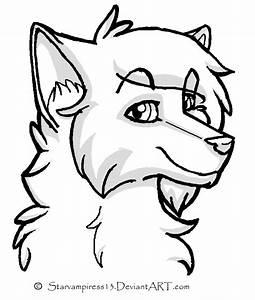 Cartoon Wolf Lineart by MS-Paint-Friendly on DeviantArt
