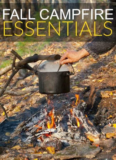 fall campfire essentials