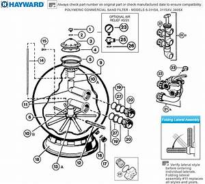 Hayward Pro Series Plus Sand Filter Parts S311sx 311xv 360sx