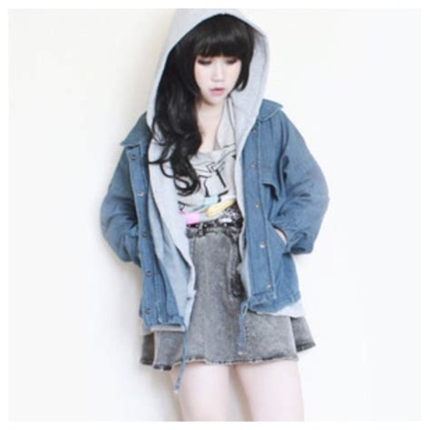 Jacket cute denim jacket hoodie coat fall outfits fashion cardigan winter outfits ...