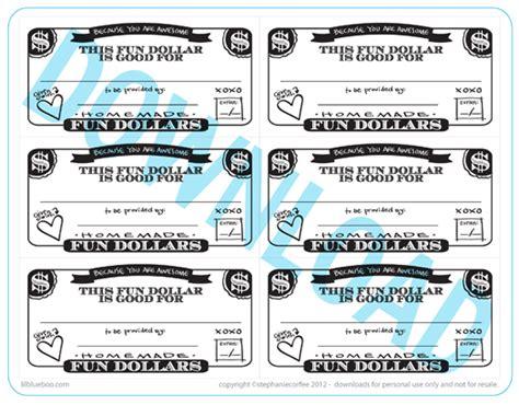 fun dollar coupons   printable