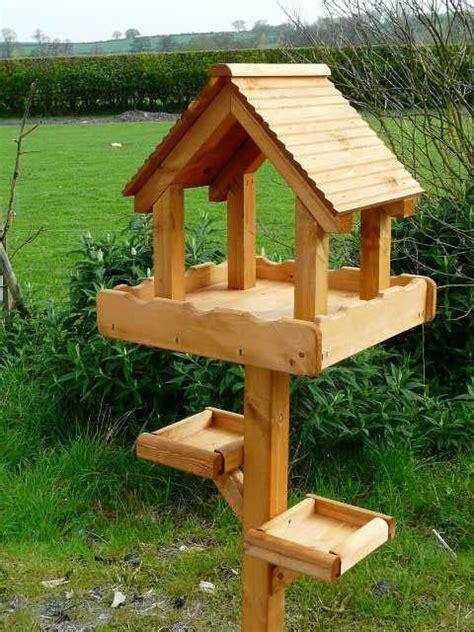 triple bird table wooden bird feeders bird tables diy bird feeder