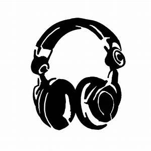 Headphone Stencil by peoplperson.deviantart.com | airbrush ...