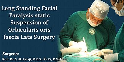 Long standing facial paralysis static suspension of ...