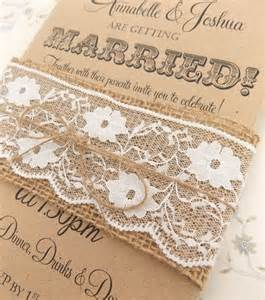 rustic lace wedding invitations rustic burlap lace wedding decorations and inspiration