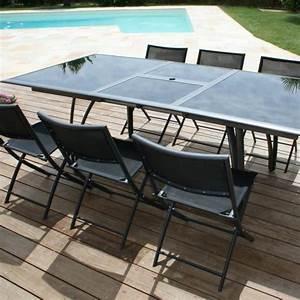 Table De Jardin En Aluminium Avec Rallonge : table de jardin largeur 90 cm ~ Teatrodelosmanantiales.com Idées de Décoration