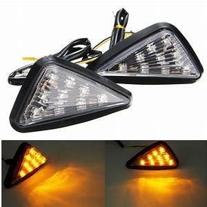 Pair Motorcycle 11 Led Turn Signals Lights Indicators