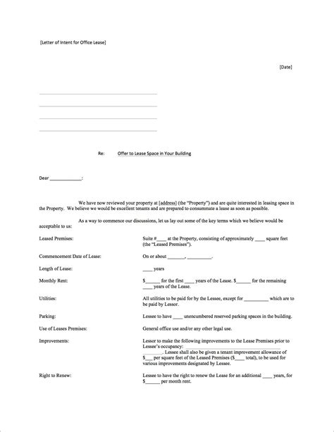lease commencement letter template samples letter cover