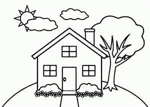 Mewarnai Pemandangan Dan Rumah