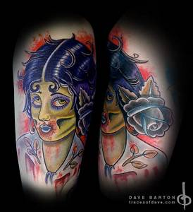 Traditional Zombie Pin Up Girl by Dave Barton: TattooNOW