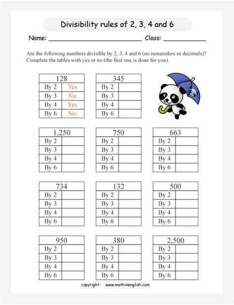 Divisibility Rules Practice Worksheet Worksheets For All  Download And Share Worksheets Free