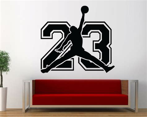 Select your favourite air jordan 1s and create your own custom wall decor! Michael Jordan 23 Wall Decal Basketball Bedroom Jordan Wall Art Decor LB22 | eBay