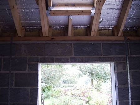 roof repair  cinderblock garage top plate joists