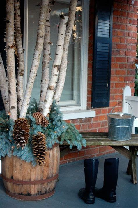 rustic porch  christmassophisticated decorating