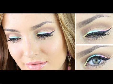 rainbow pastel eyeliner  filming room  youtube