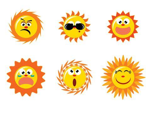 Cute Cartoon Sun Vector Vector Art & Graphics