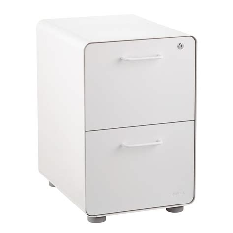 white file cabinet with lock poppin white 2 drawer locking stow filing cabinet the