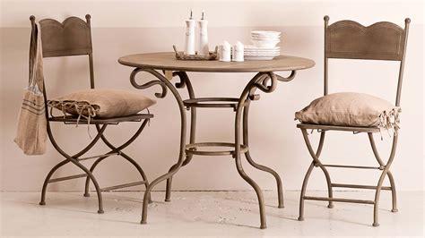 tavolo ferro battuto tavolo provenzale rotondo bianco mobili giardino provenzale