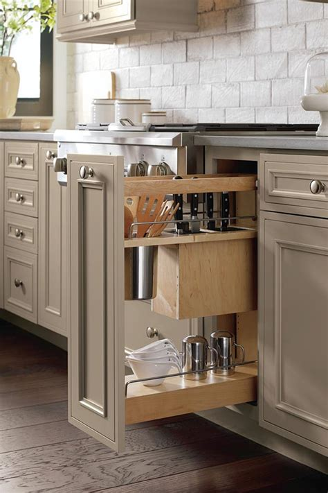 utensil pantry pull  cabinet  knife block decora