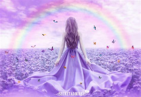 pictures butterflies secretadmires girls fantasy rainbow gown